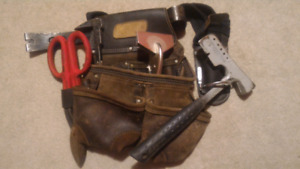 Roofing tools hatchet snips pry bar pouch