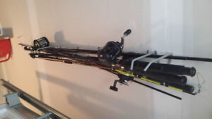 4 down rigger rods with reels for sale 400 dollars for all four