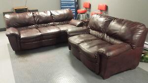 Leather Sofa & Love Seat FS