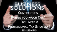 Contractors-PAY TOO MUCH TAX? U NEED a PROFESSIONAL TAX STRATEGY