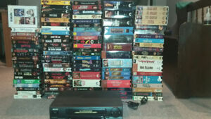 VCR - including 100+VHS Films