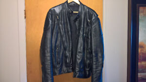 Motorcycle Jacket, Size 46 Men's Leather