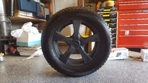 "Set of Nokian Hak 8 studded SUV tires with 18"" alloy rims & sens"