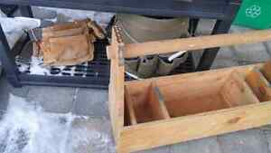 Tool box, tool bucket and pouch.