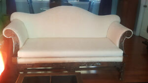 French Provincial Couch - Recently reupholstered and hardly used