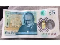 AA12 £5 note
