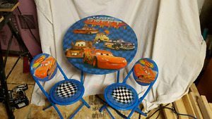 Cars table and 2 chairs