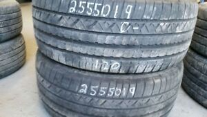 Pair of 2 Dunlop Grandtrek Touring 255/50R19 tires (40% tread li