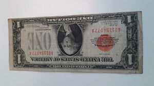 Rare 1928 $1.00 (Red Seal) United States Note