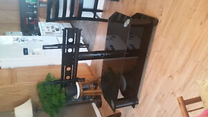 Glass TV stand, with mount & bolts