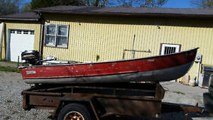12 Ft Aluminum Boat with 3.5 HP Motor