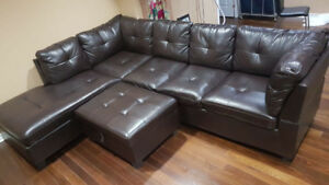 Leather sofa on sale!