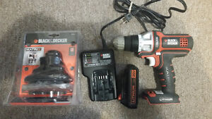 Black & Decker drill and sander Li-ion 20v  new