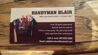 HANDYMAN/CARPTER   DECK REPAIRS/STAINS