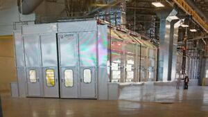 2 SEMI-DOWN DRAFT DOUBLE BAY SPRAY PAINT BOOTH / OVEN