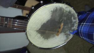 Gold Tone CC OT banjo with John Balch cow hide head + upgrades