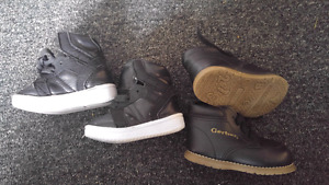2 pairs of Baby boy shoes size 2 and 3. Brand new high tops