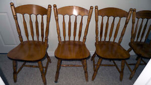 4 Hardwood Maple Chairs