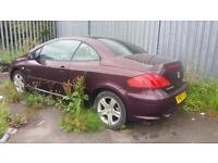 BREAKING 2005 05 PEUGEOT 307 CC 2.0 16V COUPE.MOST PARTS AVAILABLE.GOOD ENGINE .