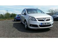 VAUXHALL ZAFIRA 1.8 SRI WITH EXTERIOR PACK - 12 MONTHS MOT + BLUETOOTH. STUNNING PEOPLE CARRIER