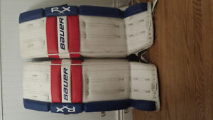 Goalie pads glove and blocker