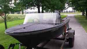 14ft fiber glass fishing boat