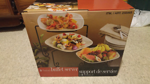 Set of 3 buffet server new in box