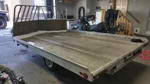 2013 aluma 2 place sled trailer.