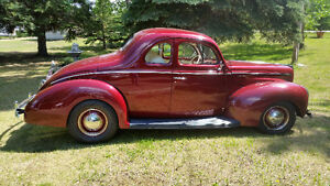 1940 Ford Deluxe coupe for sale.