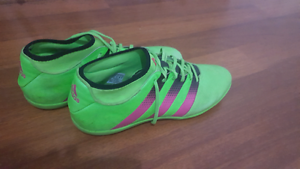 Adidas ACE 16.3 prime mesh IN - solar green/pink size12, 46.5 Berwick Casey Area Preview