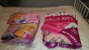 Disney and hello kitty comforter and sheet set