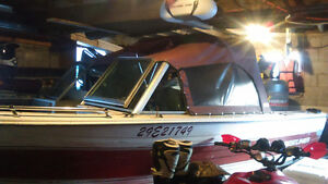 16 ft bow rider aluminum boat to trade for a pair of sleds