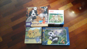 4 Adorable Animal Puzzles - 100 to 400 Pieces
