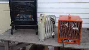 VARIOUS ELECTRIC HEATERS