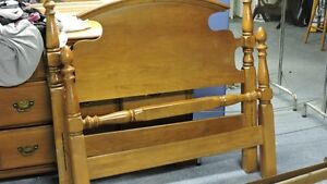 Solid Wood Single Colonial Bed Frame