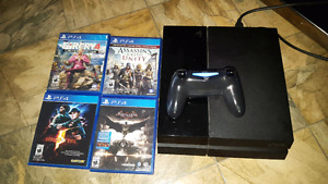 PS4 with games.