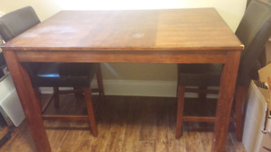 REDUCED PRICE- Solid Wood Table and Chairs
