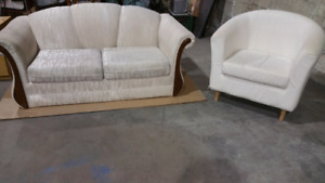 Love Seat and Tub Chair