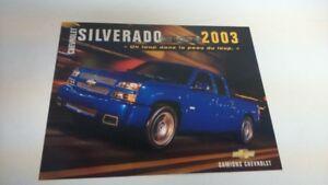 AFFICHE CAMION CHEVROLET SILVERADO SS 2003(item#14)