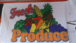 Fresh Produce Flag by Flag & Sign Depot