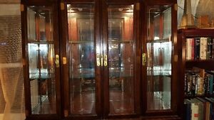 Spectacular large Oriental China Cabinet Buffet + Hutch West Island Greater Montréal image 6