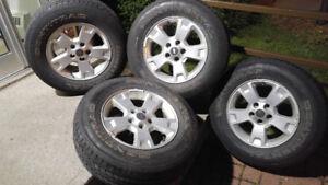 4 mags jantes rims 16po 5x114.3 avec pneus été