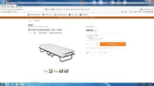 Folding Cot Bed New