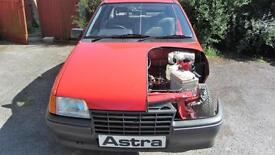 1985 Vauxhall Astra mk2 1.3 s unused motor show car 7 miles only museum showroom