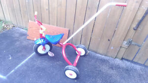 Radio Rider Tricycle with Push Handle