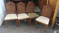 Set Of 4 Vintage Dining Room Chairs