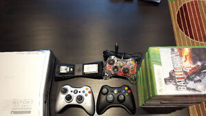 Xbox 360 w/games & controllers