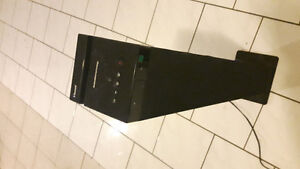 Gaming monitor/tv and wireless tower stereo up for sale