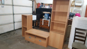 Ikea TV stand and shelves