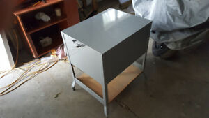 Antique steel  file cabinet